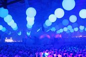 KIEV, UKRAINE - MAY 5: Sensation Innerspace show (ID&T) at the NEC on May 5, 2012 in Kiev, Ukraine