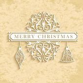 Merry Christmas Vintage Text Card