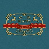 Happy Holidays Text Greeting Card