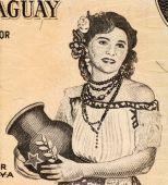 Paraguayan Woman Holding Jug