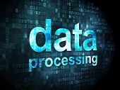 Information concept: Data Processing on digital background