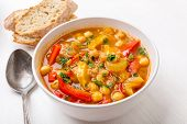 Vegetable Soup with Chickpea and Quinoa