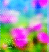 Blurred  Hexagon Mosaic Flower  Template