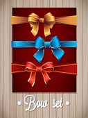 Vector  Ribbons And Bows Set Illustration. colorful gift bows with ribbons