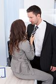 Couple Flirting In Office