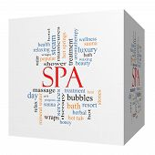 Spa 3D Cube Word Cloud Concept