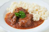 Goulash with dumplings