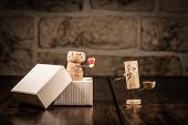 Wine Cork Figures, Concept Love Present