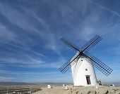 traditional windmill in Consuegra, Toledo, Castilla La Mancha, spain