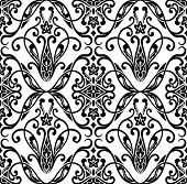Seamless pattern in black and white. Vector illustration.