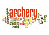 stock photo of archery  - Archery word cloud image with hi - JPG