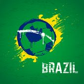 Brazil football background. Vector.