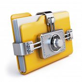picture of combination lock  - Data security concept - JPG