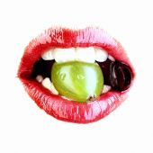 Red Lips With Fruit