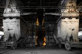 stock photo of crusher  - interior thermal power plant coal crusher equipment - JPG