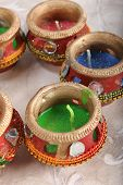 Indian Decorative Candle Pot