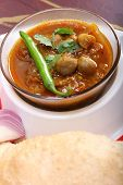 Indian Dish Spicy Chole Bhature
