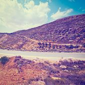 image of samaria  - Meandering Road in Hills of Samaria Photo Effect - JPG