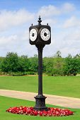 Outdoor Clock Post