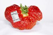 Strawberry with Nutrition Label