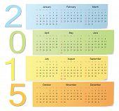 European Color Vector Calendar 2015