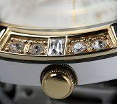 Gold Clock Winder Macro Photo