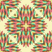Seamless Geometric Pattern With Hand Drawn Bright Ornamental Rectangles