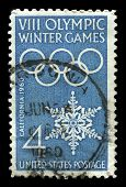 Us Postage Stamp Celebrating The Viii Winter Olympic Games