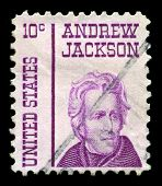 Us Postage Stamp Depicting Andrew Jackson