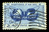 Atoms For Peace Us Postage Stamp