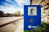 Sign Of The Camino De Santiago