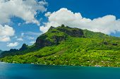 stock photo of french polynesia  - Paradise view of Moorea Islands Cook - JPG
