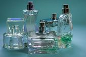Perfumes In Bottles Of Different Shapes