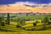 foto of bluegrass  - Kentucky country evening - JPG