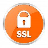 ssl orange glossy icon