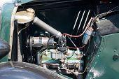 Vintage car engine detail