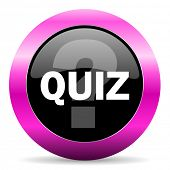 quiz pink glossy icon