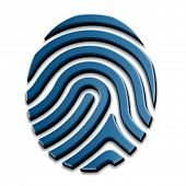 vector 3D drawing fingerprint symbol