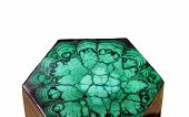 picture of malachite  - The pictured malachite box on the white background - JPG