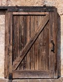 Old sliding wooden door rustic texture