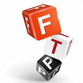 3D Dice Illustration With Word Ftp