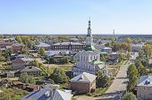 Top View Of Totma Town, North Russia