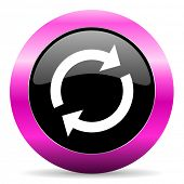 reload pink glossy icon
