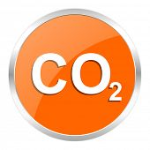carbon dioxide orange glossy icon
