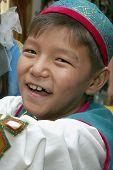 Ashgabat, Turkmenistan - August 4:  An Unidentified Asian Boy Laughing.  Children's Forum Under The