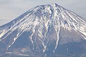 top of mountain fuji from lake tanuki , shizuoka