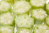 Fresh Okra Slices