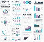 Huge infographic vector elements designers set