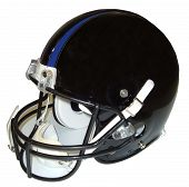stock photo of football helmet  - black football helmet - JPG