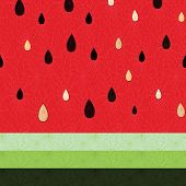 picture of exotic_food  - Seamless watermelon fruit pattern - JPG